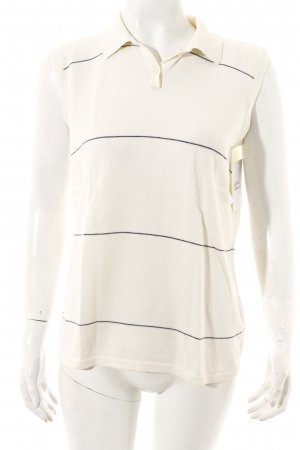 Nike Polo Top dark blue-natural white striped pattern athletic style