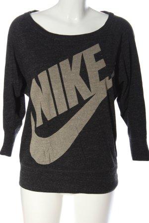Nike Print-Shirt hellgrau-wollweiß meliert Casual-Look