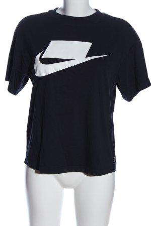 Nike Print-Shirt schwarz-weiß Motivdruck Casual-Look