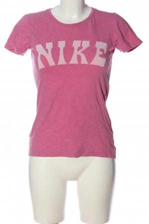 Nike Print-Shirt pink-weiß meliert Casual-Look