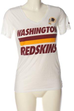 Nike Print-Shirt weiß-rot Schriftzug gedruckt Casual-Look
