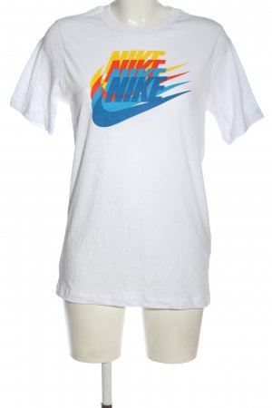 Nike Print-Shirt weiß Motivdruck Casual-Look