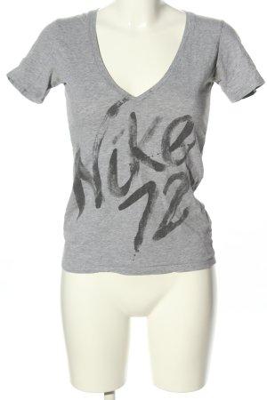 Nike Print-Shirt hellgrau-schwarz meliert Casual-Look