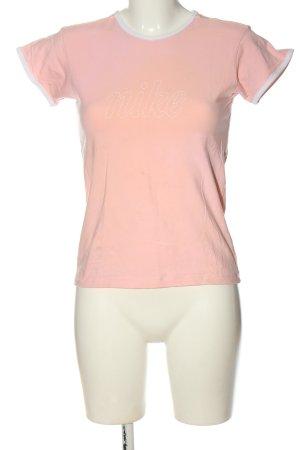 Nike T-shirt imprimé rose lettrage imprimé style décontracté