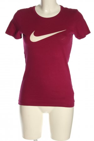 Nike Print-Shirt pink Motivdruck Casual-Look