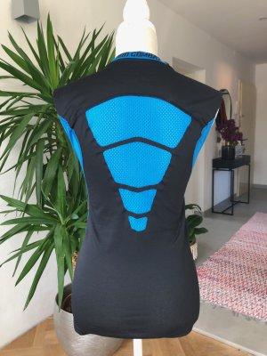 Nike Débardeur de sport noir-bleu fluo