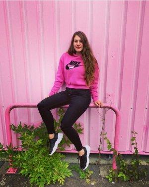 nike Pulli pink rosa mit Logo schrift klett S M L 36 38 40