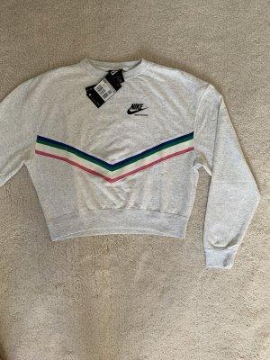 Nike Pulli Pullover Sweatshirt XS oversized grau bunt