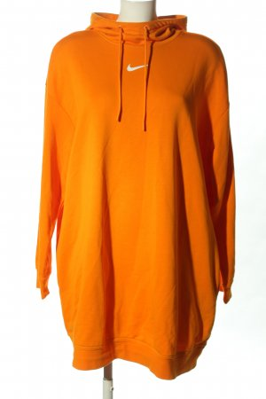 Nike Sweater Dress light orange-white themed print casual look