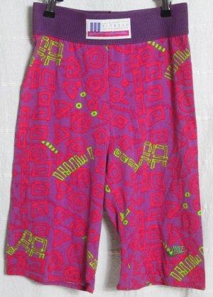 NIKE Radler Hose XS Aerobic Fitness 80er Sporthose Pink Print True Vintage