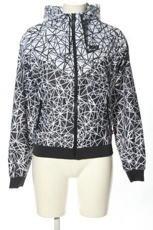 Nike Regenjacke weiß-schwarz abstraktes Muster Casual-Look