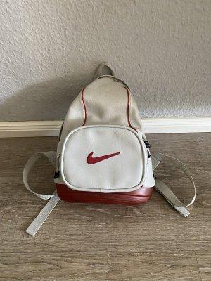 Nike Sac à dos gris clair-rouge foncé