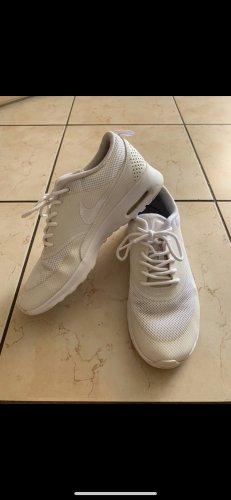 Nike Lace-Up Sneaker white mixture fibre