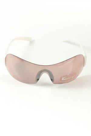 Nike runde Sonnenbrille weiß-pink sportlicher Stil
