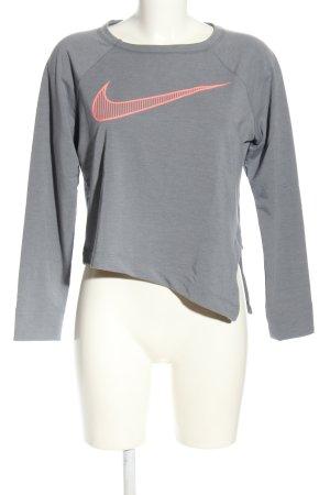Nike Rundhalspullover hellgrau-pink meliert Casual-Look