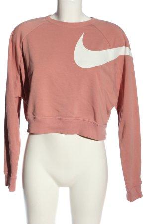 Nike Rundhalspullover nude-weiß Casual-Look