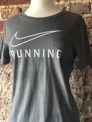 NIKE RUNNING DRY FIT T-Shirt Laufshirt Gr. S 38 grau