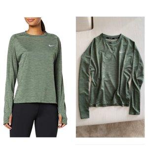 Nike Running - Olive Graugrün - Longsleeve