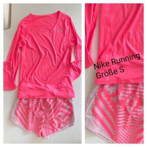 Nike Running Sport Shorts Longsleeve Neon