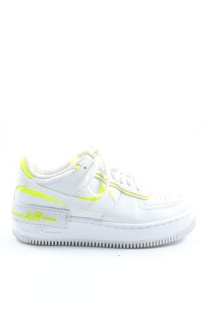Nike Schnürsneaker weiß-blassgelb Casual-Look