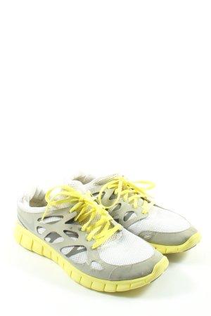 Nike Schnürsneaker hellgrau-blassgelb Casual-Look
