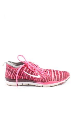 Nike Schnürsneaker pink Streifenmuster sportlicher Stil