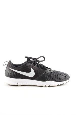 Nike Zapatilla brogue negro-blanco estampado temático look casual