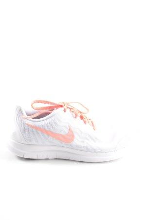 Nike Lace-Up Sneaker light grey-light orange business style