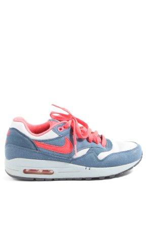 Nike Schnürsneaker blau-rot Casual-Look