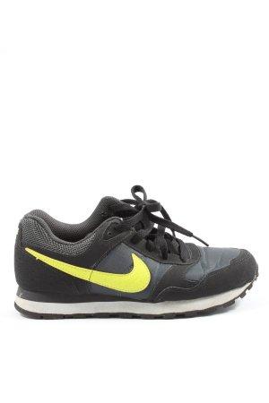 Nike Schnürsneaker schwarz-blassgelb Motivdruck Casual-Look