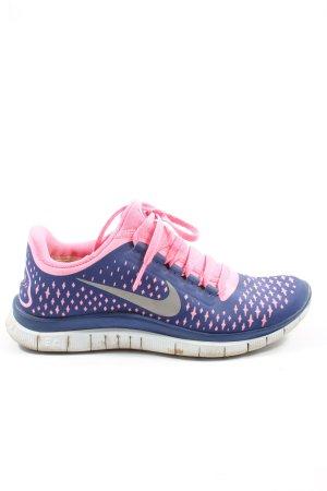 Nike Schnürsneaker blau-pink Motivdruck sportlicher Stil