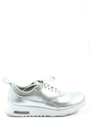 Nike Sneakers met veters zilver-wit casual uitstraling