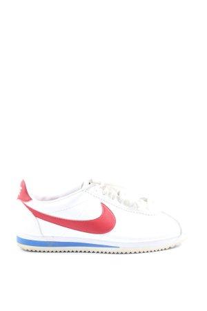 Nike Schnürsneaker weiß-rot Casual-Look
