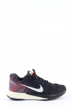 Nike Schnürsneaker schwarz-blau meliert Casual-Look