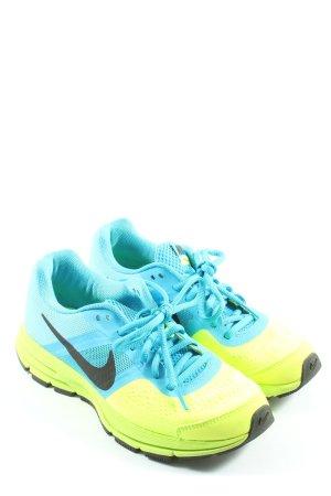 Nike Schnürsneaker blau-blassgelb Casual-Look