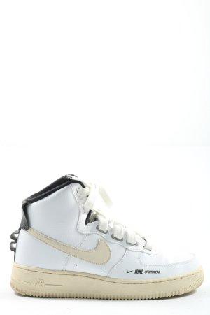 Nike Schnürsneaker weiß-creme Casual-Look