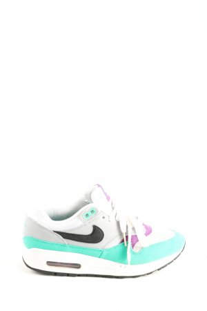 Nike Lace-Up Sneaker turquoise-white casual look
