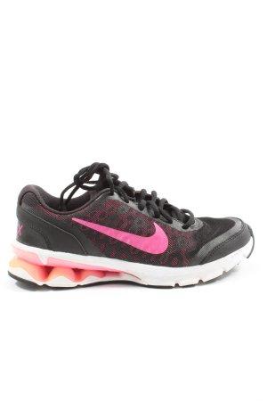 Nike Schnürsneaker schwarz-pink Leomuster Casual-Look