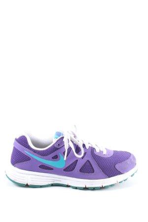 Nike Schnürsneaker lila-blau Motivdruck Casual-Look