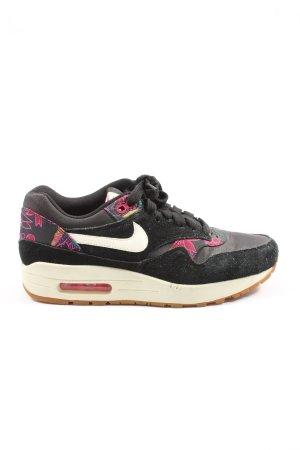 Nike Schnürsneaker schwarz-pink Motivdruck Casual-Look