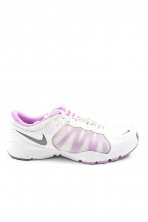 Nike Schnürsneaker weiß-lila Casual-Look