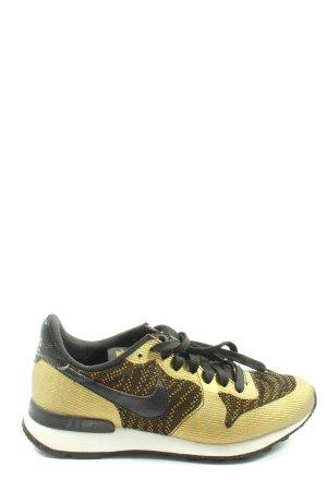 Nike Schnürsneaker goldfarben-schwarz Casual-Look
