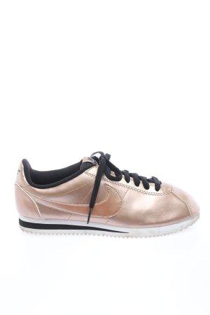 Nike Schnürsneaker bronzefarben Glanz-Optik