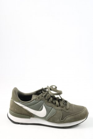 Nike Lace-Up Sneaker khaki-white casual look