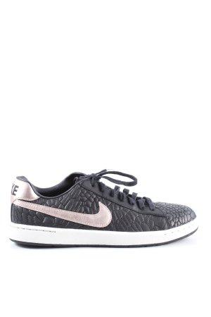 Nike Schnürsneaker schwarz-silberfarben Allover-Druck Casual-Look
