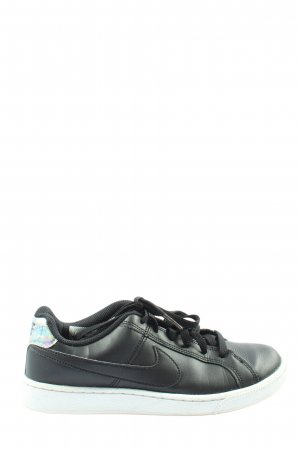 Nike Schnürsneaker schwarz-silberfarben Casual-Look