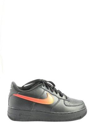 Nike Schnürsneaker schwarz-hellorange Casual-Look