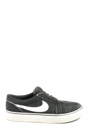 Nike Schnürsneaker schwarz-weiß Motivdruck Casual-Look
