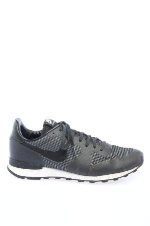 Nike Schnürsneaker schwarz grafisches Muster Casual-Look