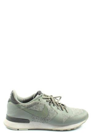Nike Lace-Up Sneaker green-light grey flecked elegant